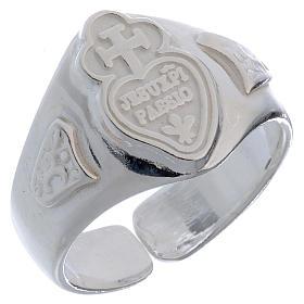 Anello Argento 800 cuore e croce regolabile s1
