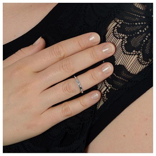 single decade ring, classic in  silver 3