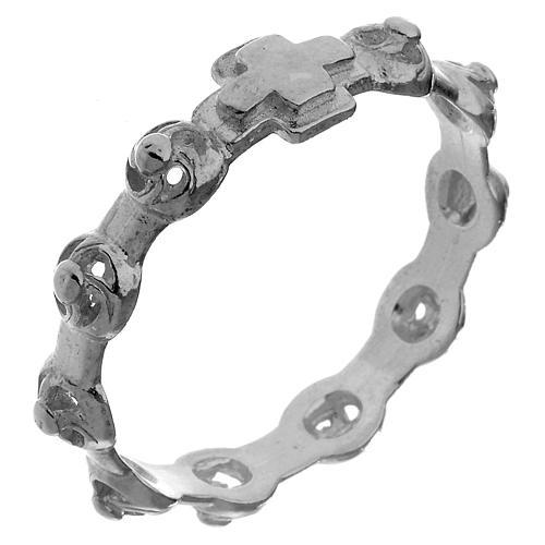 Décima anillo de plata 800 decorado 1