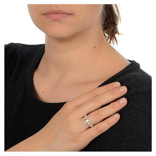 Décima anillo de plata 800 decorado 2