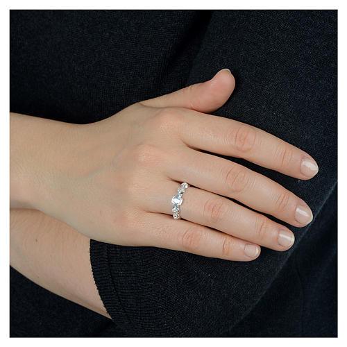 Décima anillo de plata 800 decorado 3