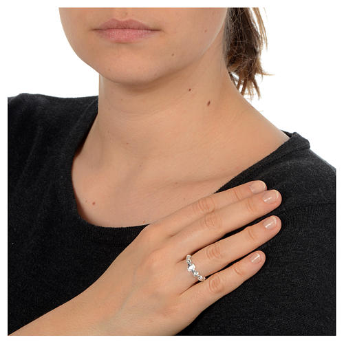 Décima anillo de plata 925 decorado 2