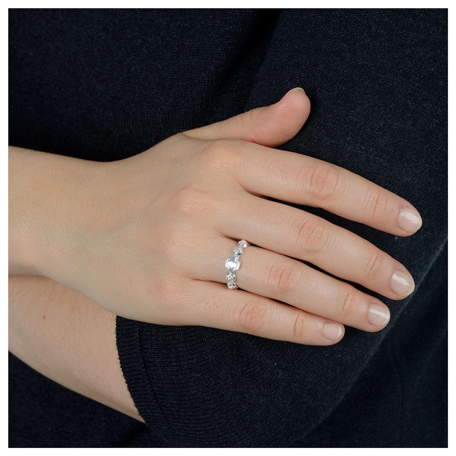 Dezena anel prata 925 decorada 3