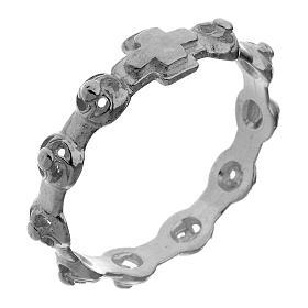 Anéis Religiosos: Dezena anel prata 925 decorada