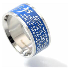 Anillo Padre Nuestro INOX LUX azul s2