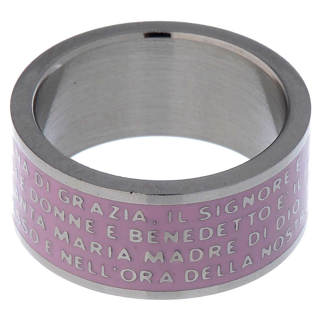Anello Ave Maria INOX LUX Rosa 3