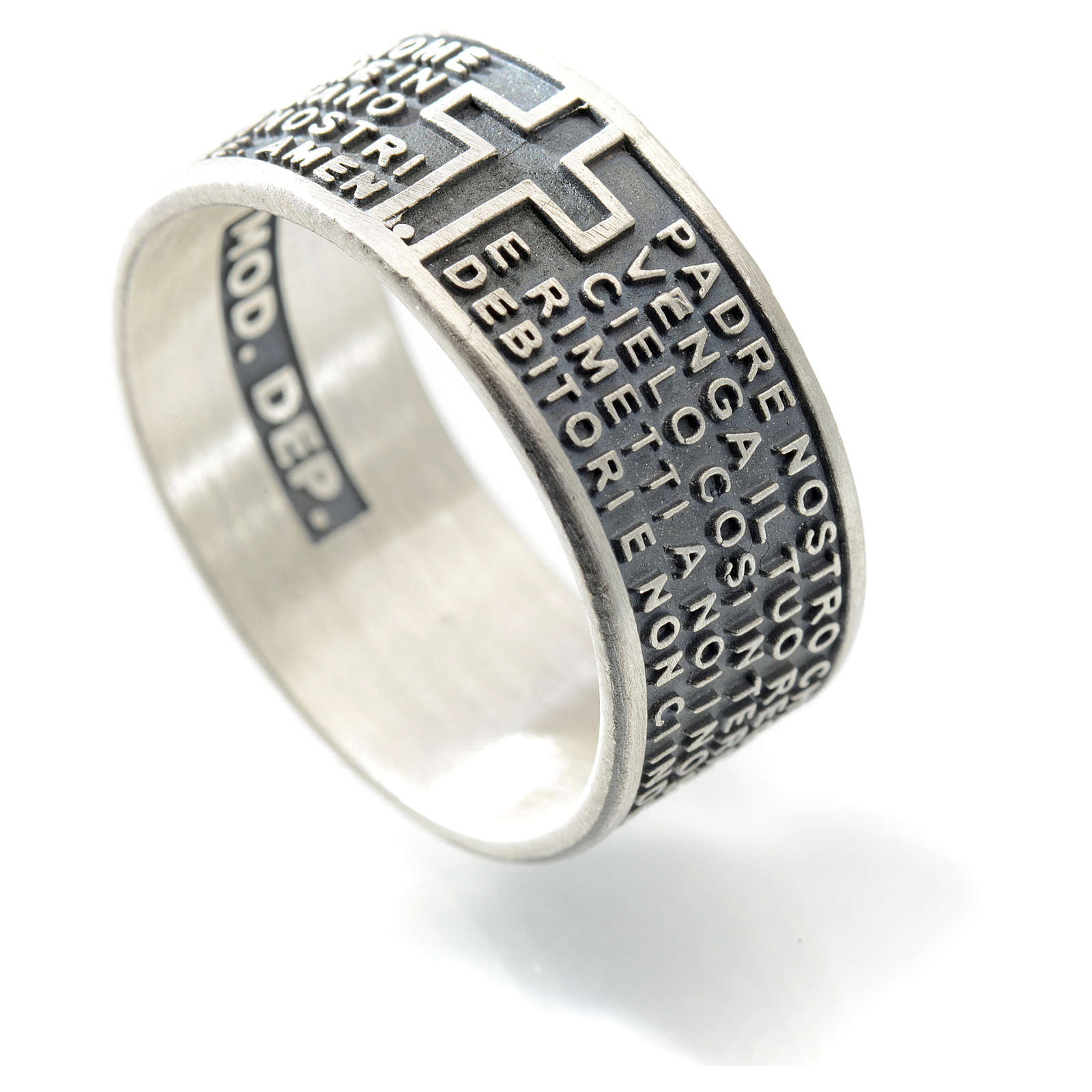 Our Father prayer ring in 925 silver 3