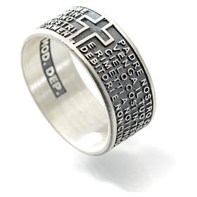 Our Father prayer ring in 925 silver s2