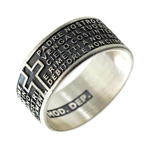 Our Father prayer ring in 925 silver 1