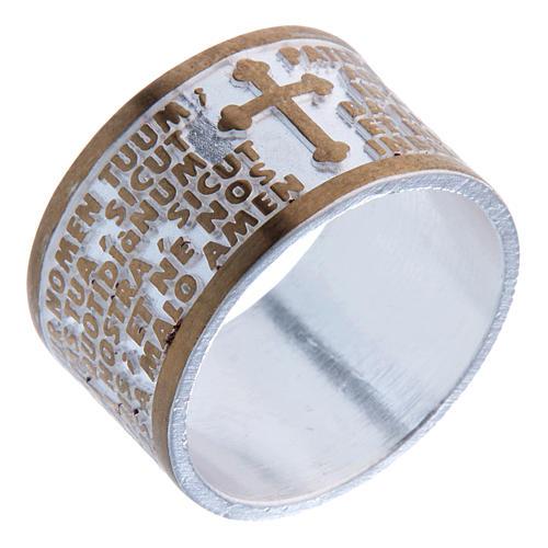 Ring Vaterunser aus Bronze 1