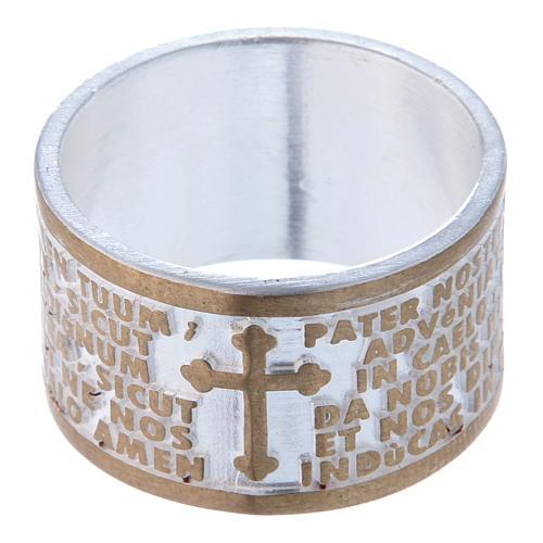 Obrączka brąz Ojcze Nasz po łacinie 2