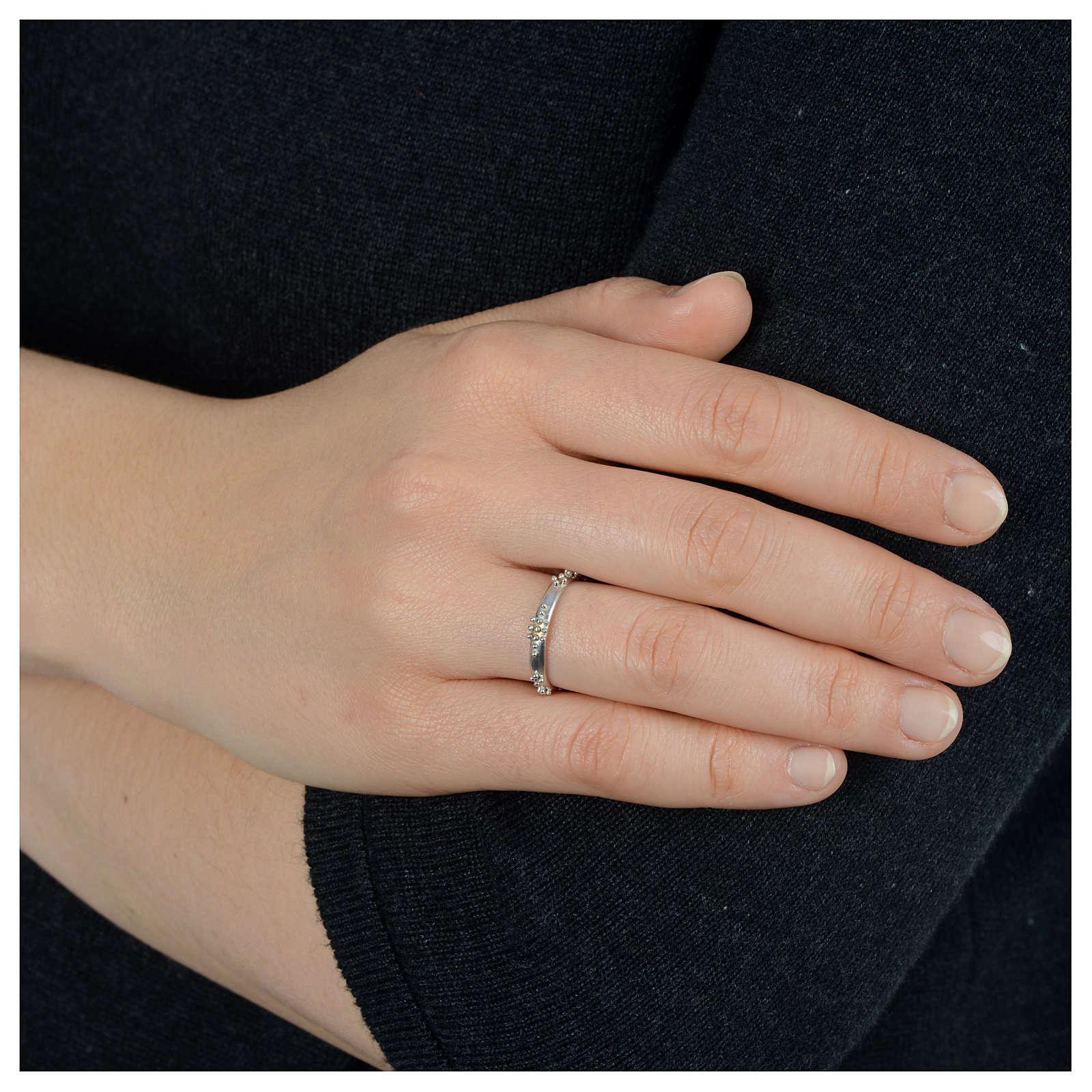 Rosenkranz Ring mit Bällchen Silber 925 3