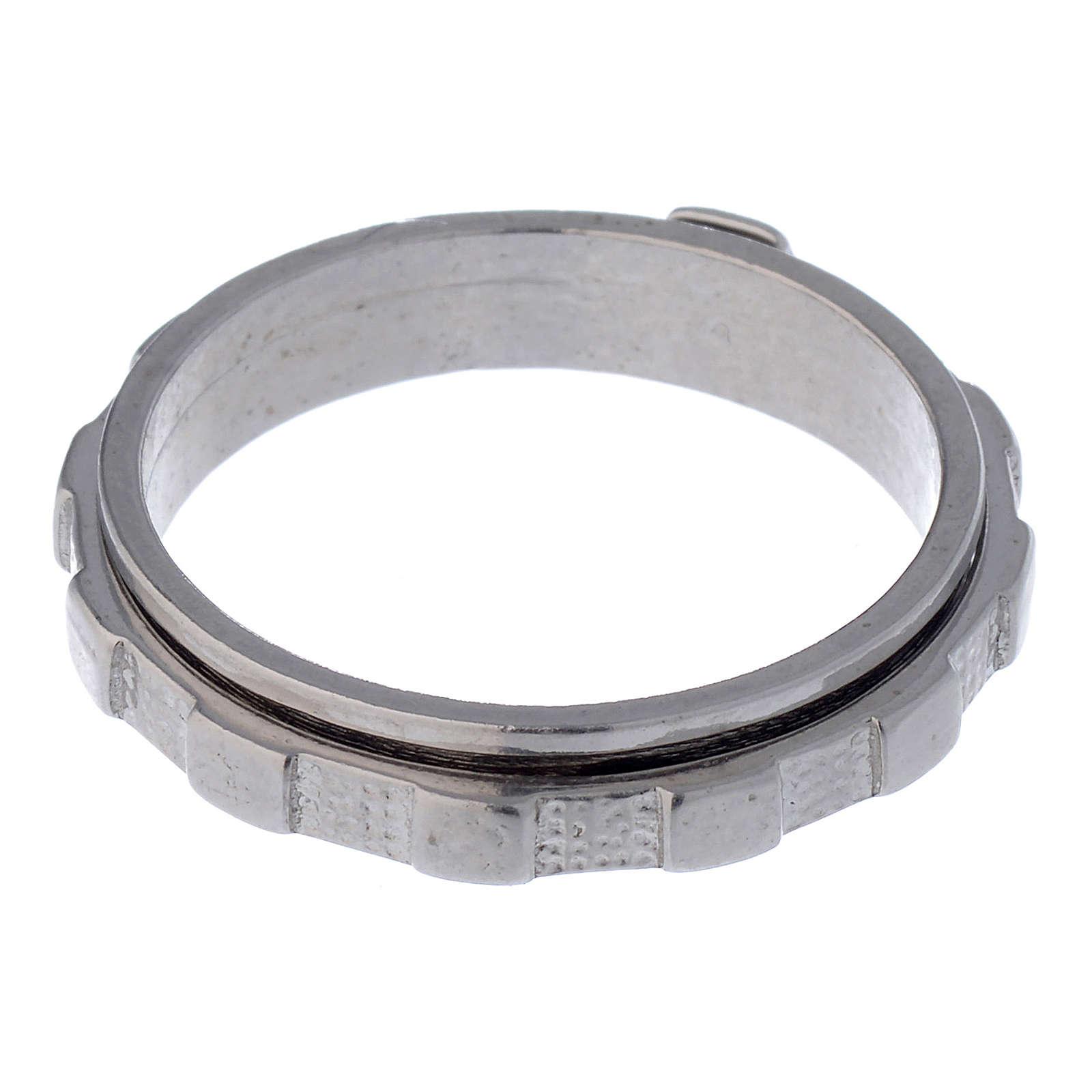 Rosenkranz Ring Silber 925 drehbar 3