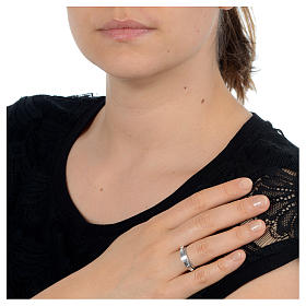 Rosenkranz Ring Silber 925 drehbar s2