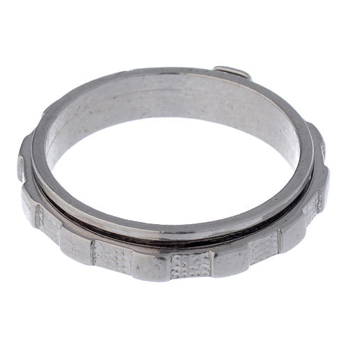 Rosenkranz Ring Silber 925 drehbar 5