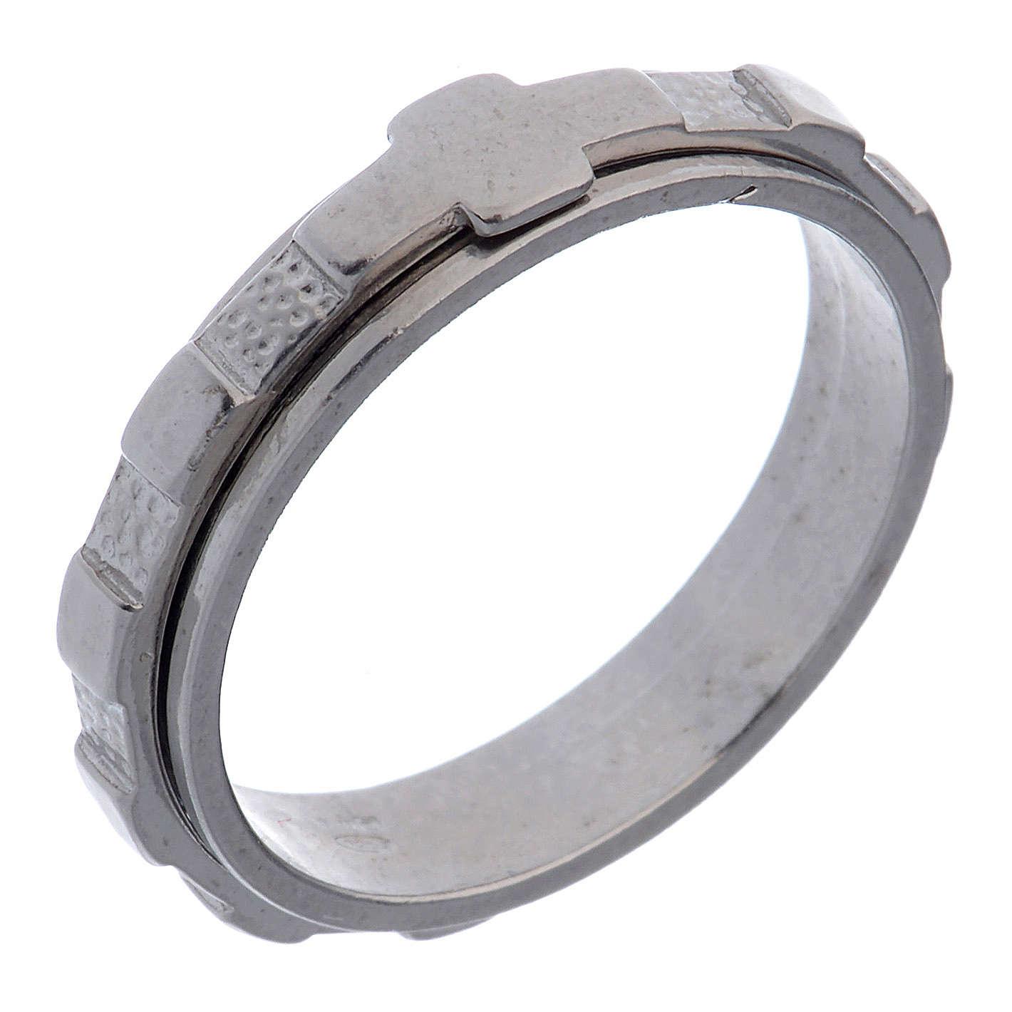Anel dezena prata 925 giratório 3