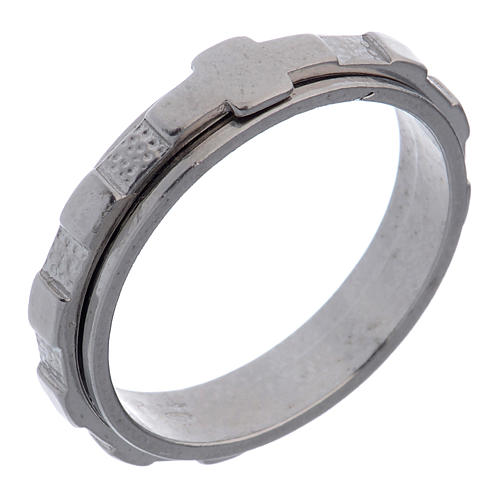 Anel dezena prata 925 giratório 1