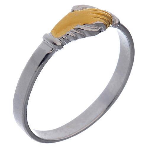 Ring Heilige Rita zweifarbig Silber 800 | Online Verfauf auf HOLYART