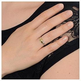 Prayer ring Saint Rita in 925 silver, bi-coloured s3