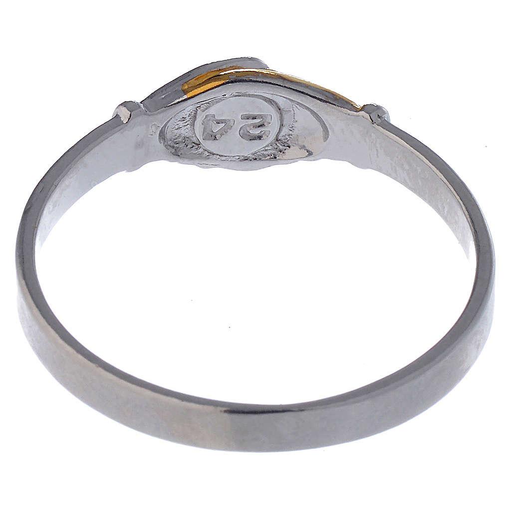 Anello Santa Rita argento 800 bicolore 3