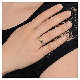Anello Santa Rita argento 800 bicolore s3