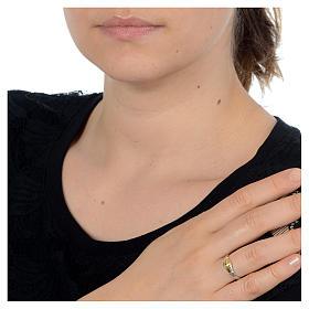 Obrączka Pierścionek Święta Rita srebro 925 dwukolowe s2