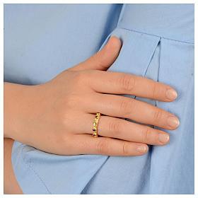 Prayer ring single decade in 925 silver with purple zircon s3