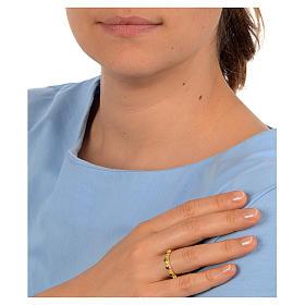 Decina Argento 800 dorato con zircone viola s2