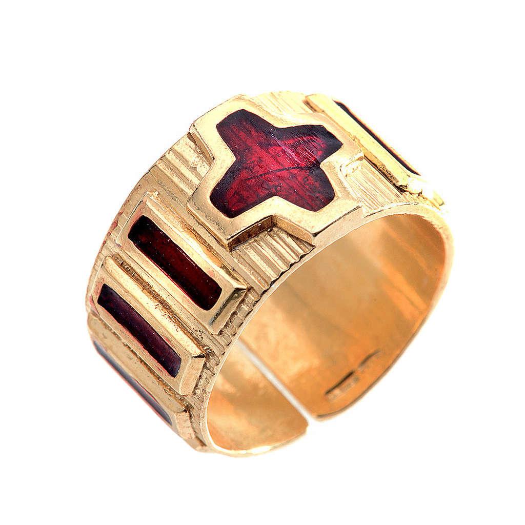 Rosenkranz Ring Silber und Lackier 3