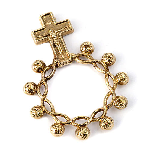 Basque ring rosary, prayer ring in gilded 800 silver 1