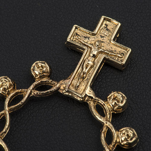 Basque ring rosary, prayer ring in gilded 800 silver 2