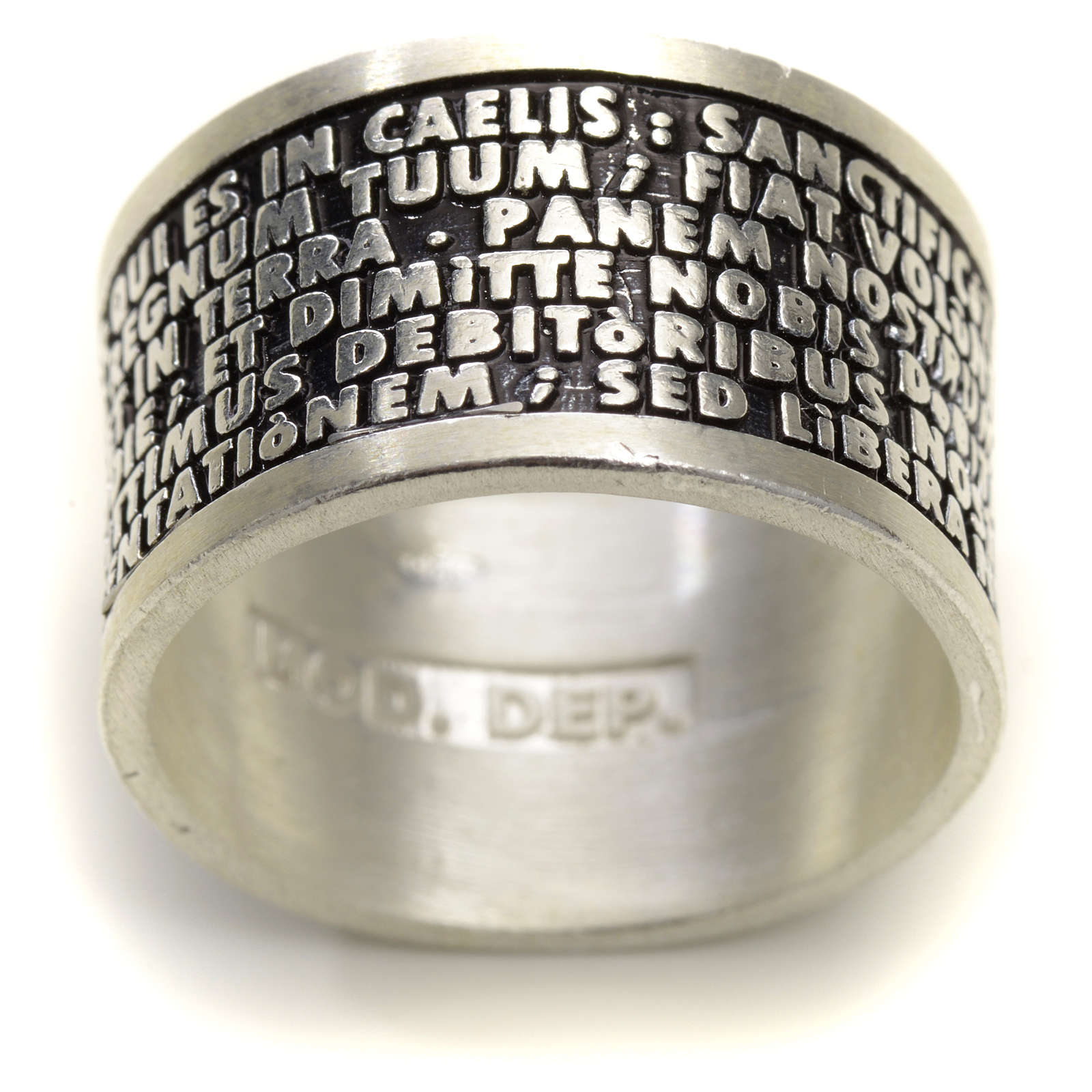 Prayer ring Our Father in Latin, 925 silver 3