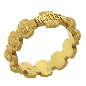 Rosary ring in gold plated silver 925 glazed finishing, MATER s1