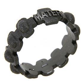 Fedina rosario MATER sabbiata nera argento 925 s1