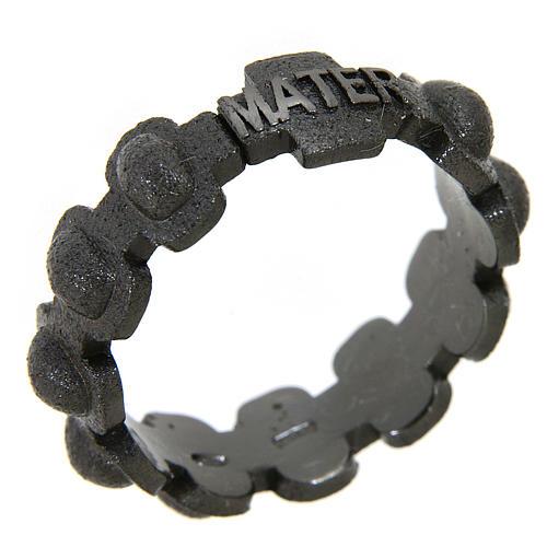 Fedina rosario MATER sabbiata nera argento 925 1