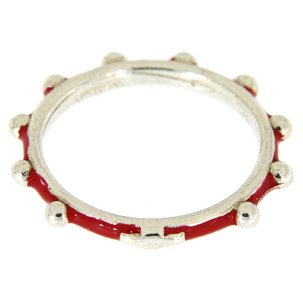 Fedina rosario MATER smaltata argento 925 rossa 3