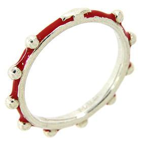 Fedina rosario MATER smaltata argento 925 rossa s1