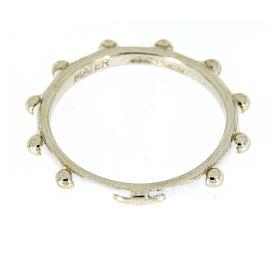 Fedina rosario MATER smaltata argento 925 bianca s2