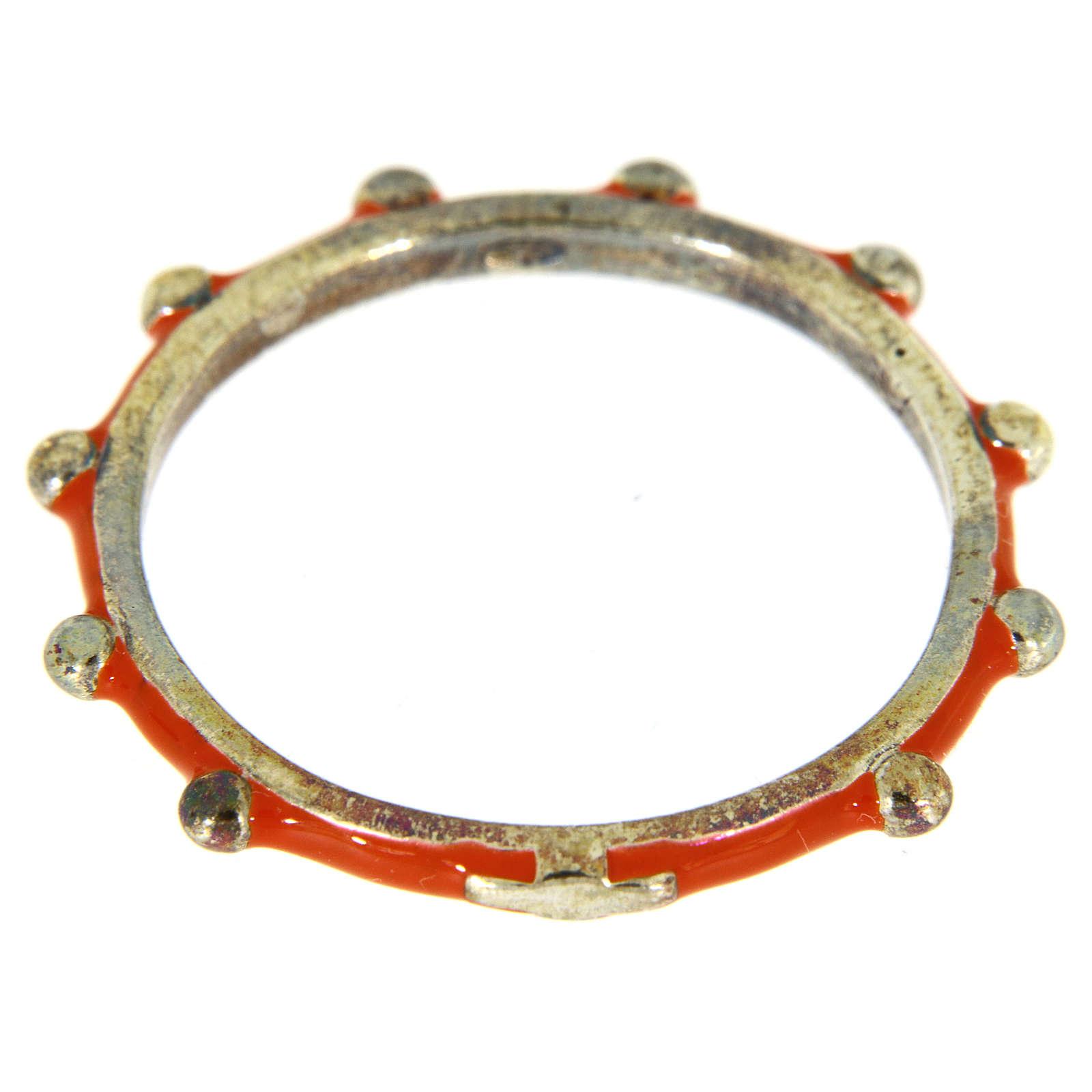 Fedina rosario MATER smaltata argento 925 arancione 3