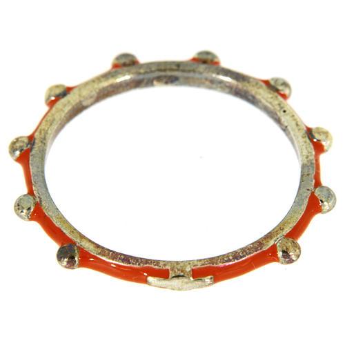 Fedina rosario MATER smaltata argento 925 arancione 2