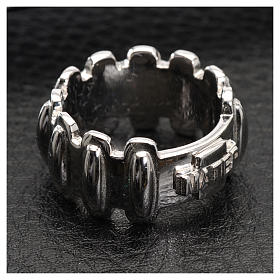 Rosary ring in silver 925, MATER s4