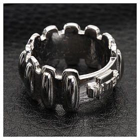 Rosary ring in silver 925, MATER s2