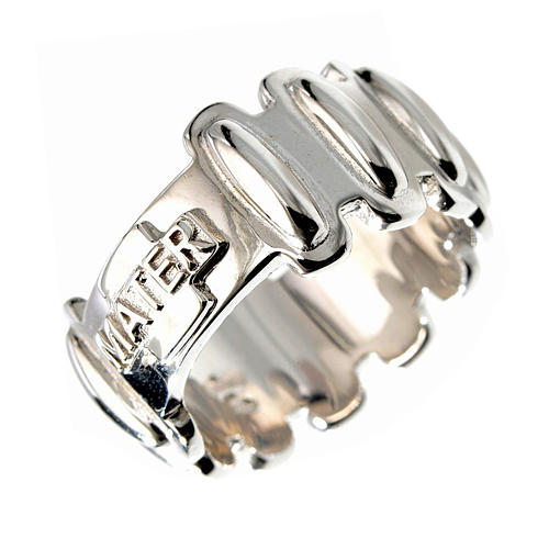Rosary ring in silver 925, MATER 1