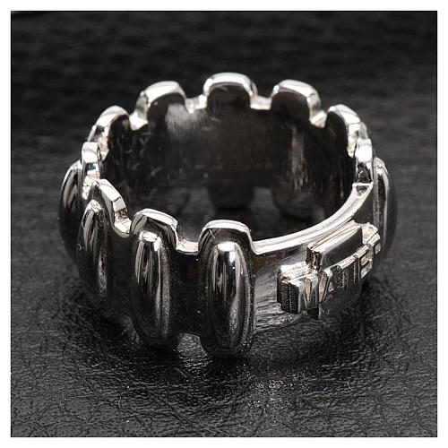 Rosary ring in silver 925, MATER 2