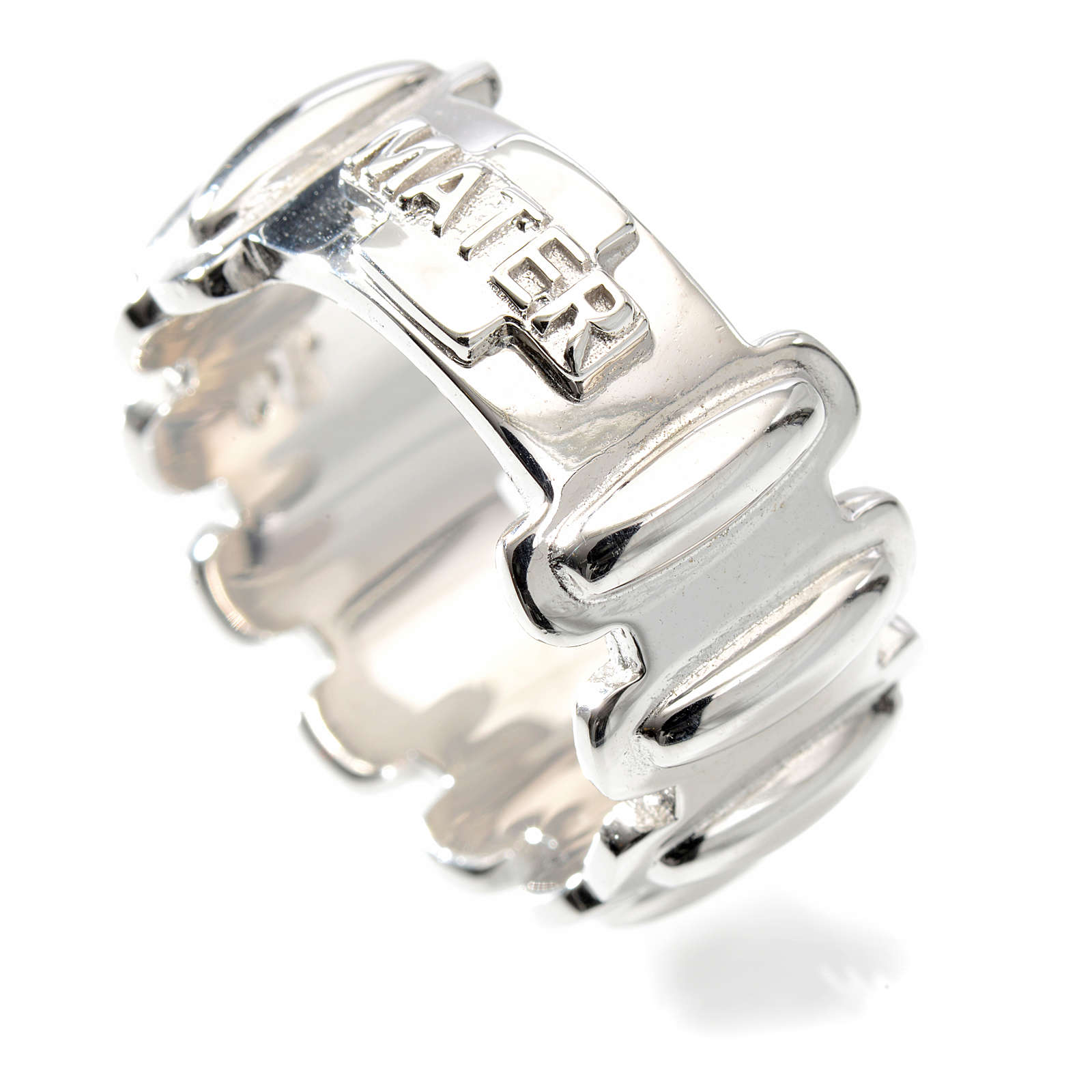 Rosary ring in silver 925, MATER 3