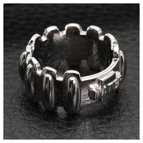 Rosary ring in silver 925, MATER 4