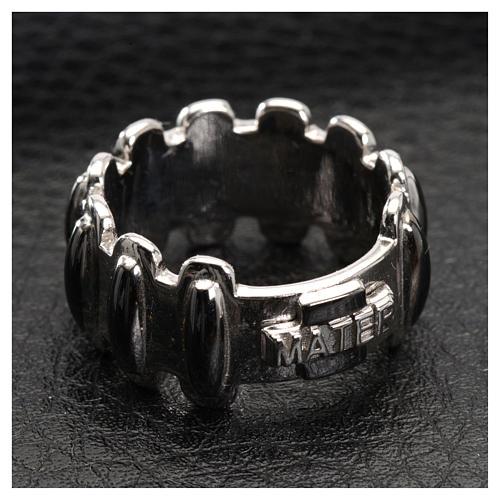 Rosenkranz Ring MATER getönten Silber 925 4