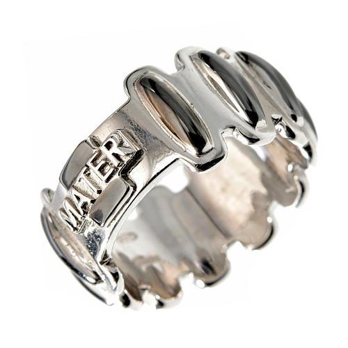 Rosenkranz Ring MATER getönten Silber 925 1