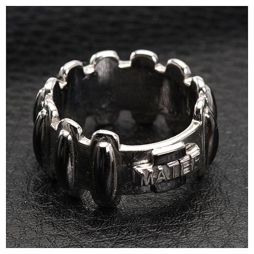 Rosenkranz Ring MATER getönten Silber 925 2