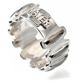 Rosary ring in burnished silver 925, MATER s3